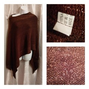 Accessories - Sweater Shaw with Gold Glitter Accents